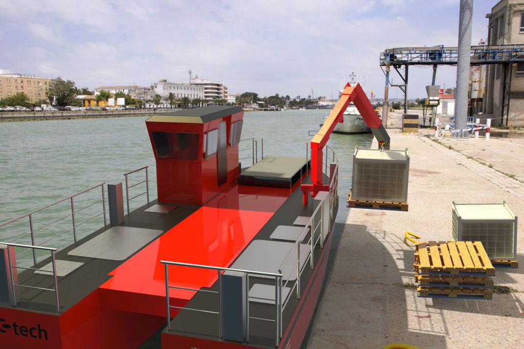 OC-TECH carga en puerto