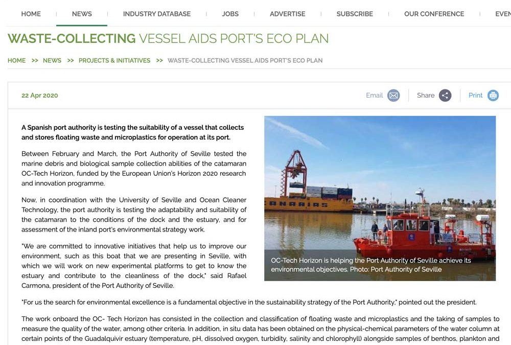 WASTE-COLLECTING VESSEL AIDS PORT'S ECO PLAN